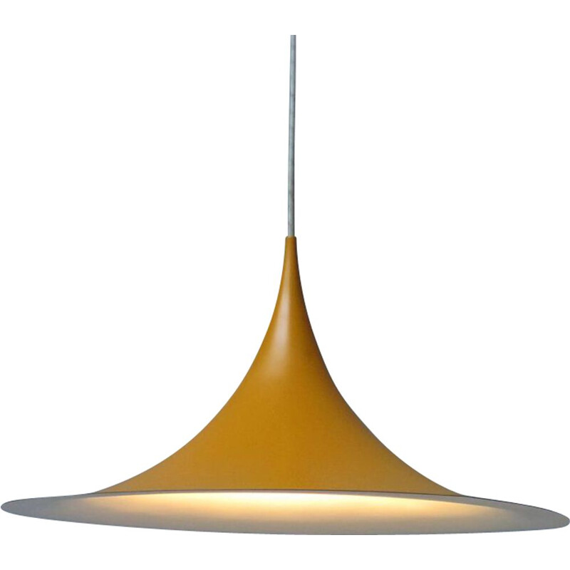 Vintage Danish yellow metal pendant lamp
