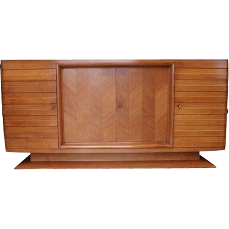 Vintage Gaston Poisson Oak Buffet, 1940