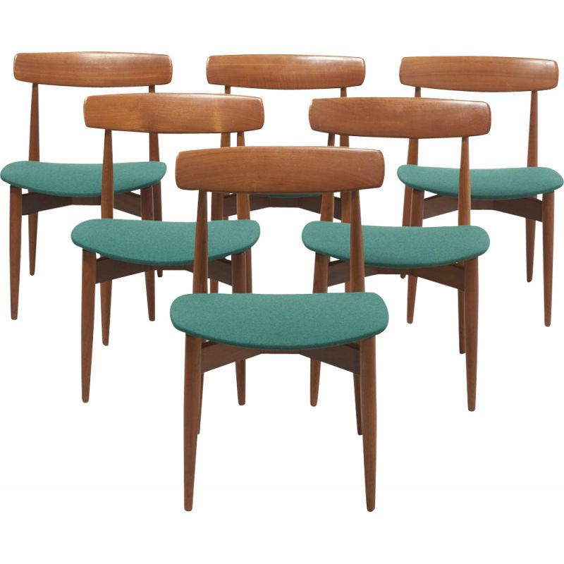 Vintage set of 6 dinning chairs by H. W. Klein for Bramin