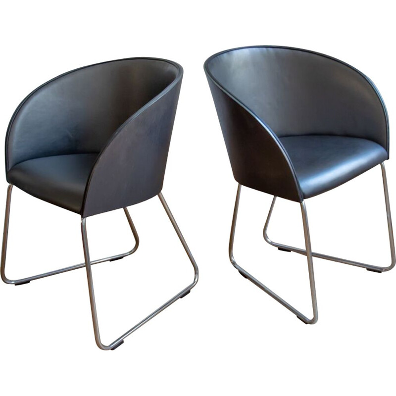 Pair of vintage armchairs for Verges by Yago Sarri