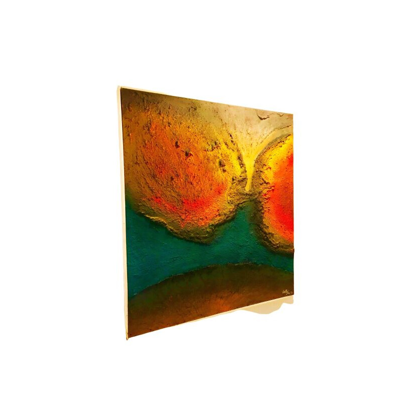 Vintage lava painting by Calleja