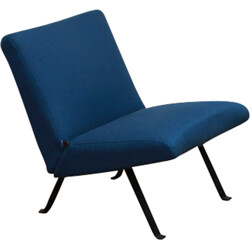 Artifort steel and blue easy chair, Joseph-André MOTTE - 1960