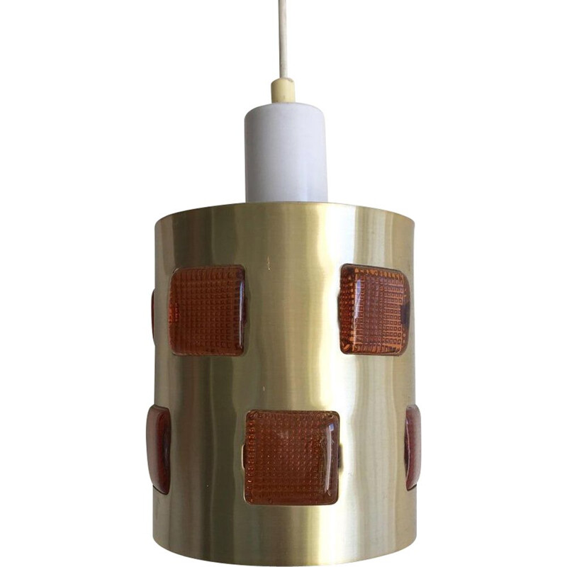Swedish vintage pendant light by Einar Backstrom and Erik Hoglund, 1960s