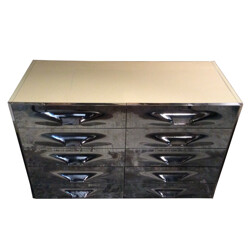 DS 2000 silver chest of drawers, Raymond Loewy - 1970s