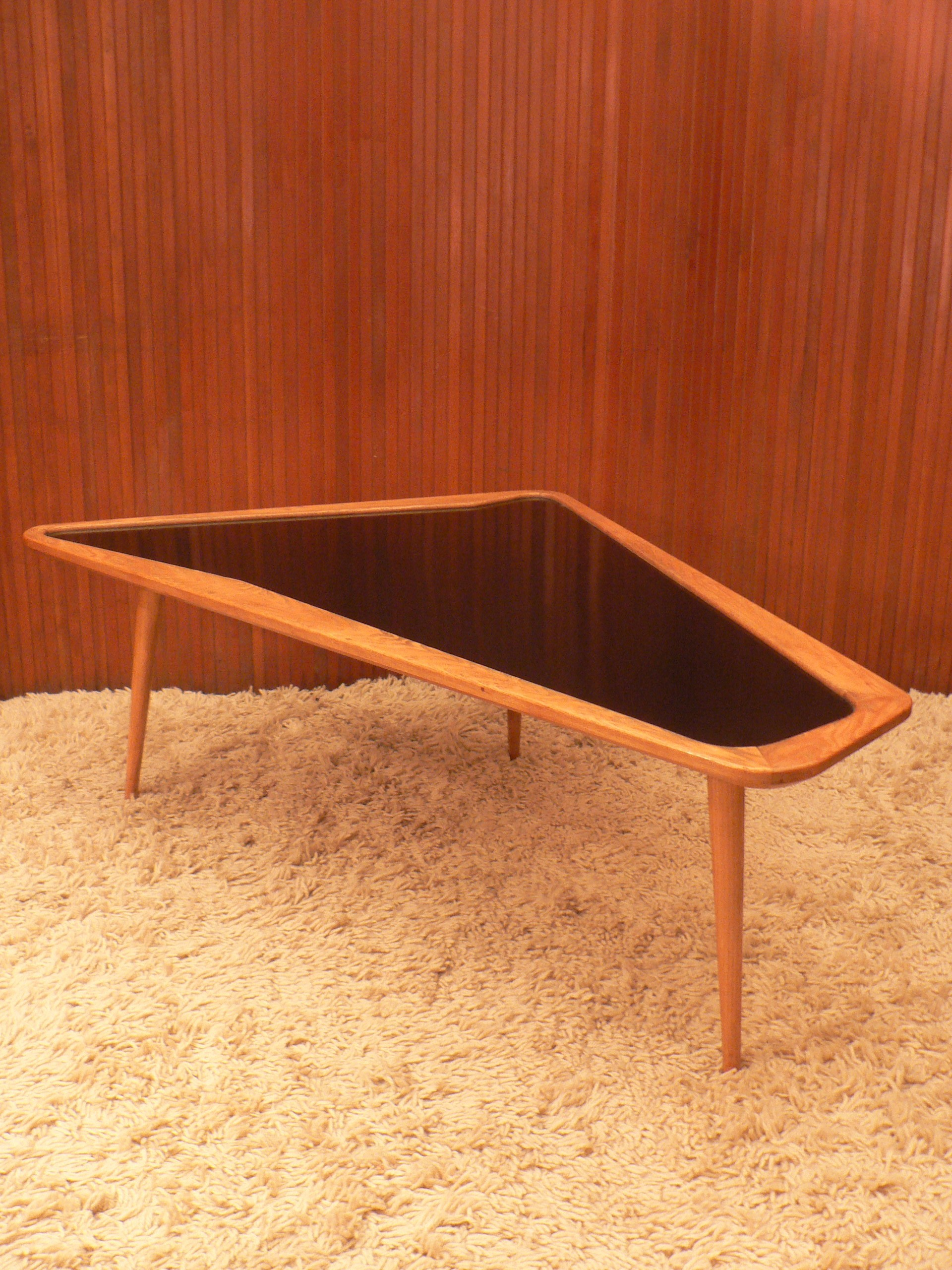 Vintage Coffee Table In Wood And Melamine Charles Ramos 1950s  # Image Table Tv En Melamine