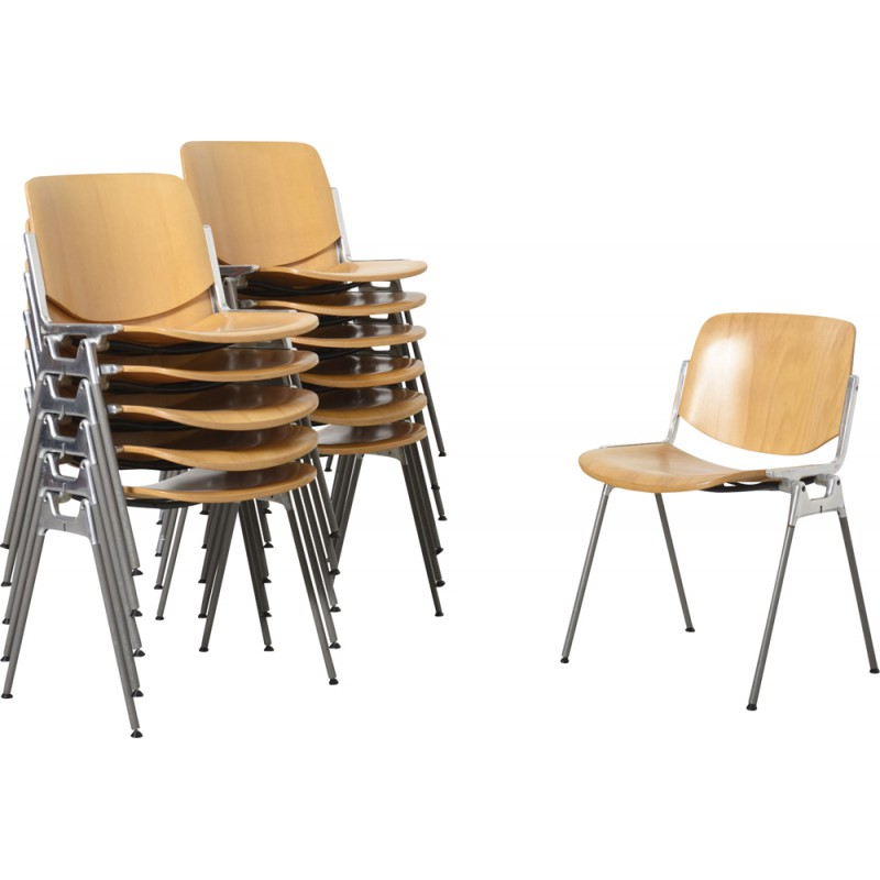 wooden and metal chairs reclaimed castelli wooden and metal chair giancarlo piretti 1960s design