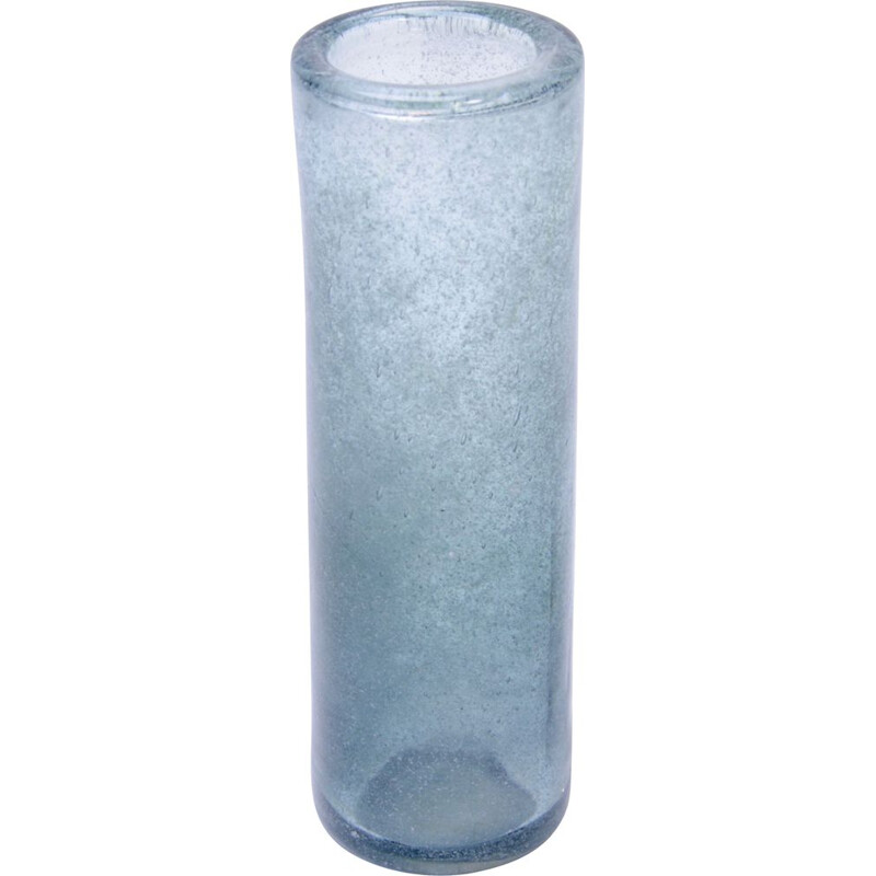 "Vintage ""Blue Lava"" glass vase by Per Lütken for Holmegaard"