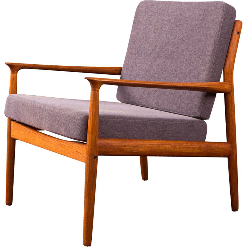 Pair of vintage scandinavian armchairs GE 290, 1950s