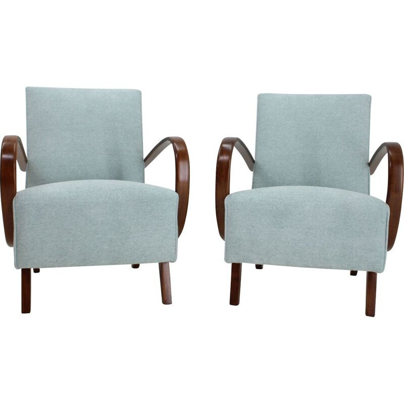 Pair of vintage armchairs by Jindrich Halabala, 1950s