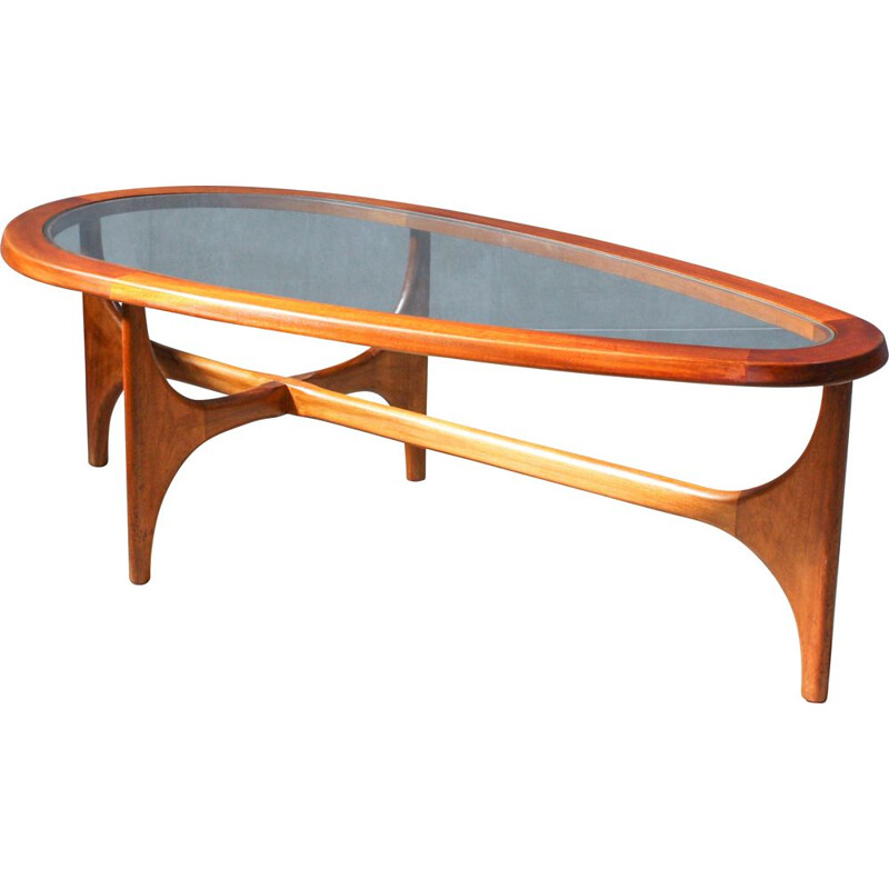 Vintage tear-drop coffee table from Stonehill, 1960s