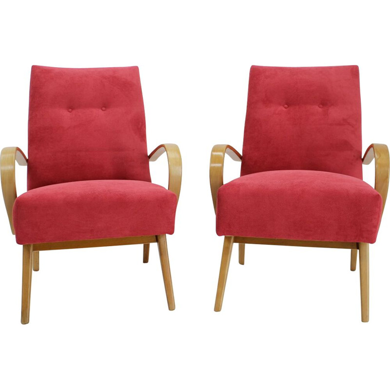 Pair of vintage armchairs by Jaroslav Smidek, 1960s
