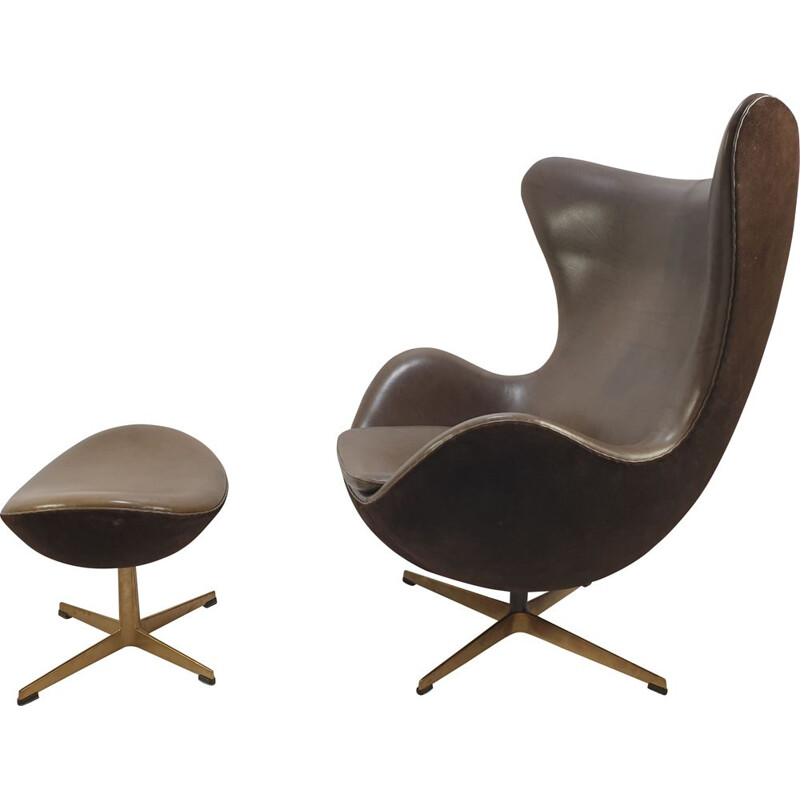"Vintage limited edition golden ""Egg Chair"" by Arne Jacobsen"