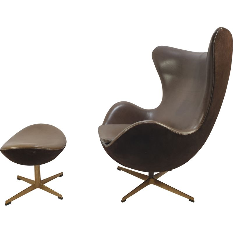 """Vintage limited edition golden """"Egg Chair"""" by Arne Jacobsen"""