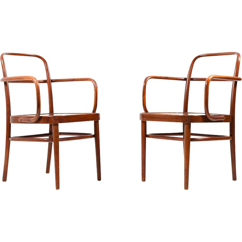 Pair of chairs by Gustav Adolf Schneck for Thonet, 1925