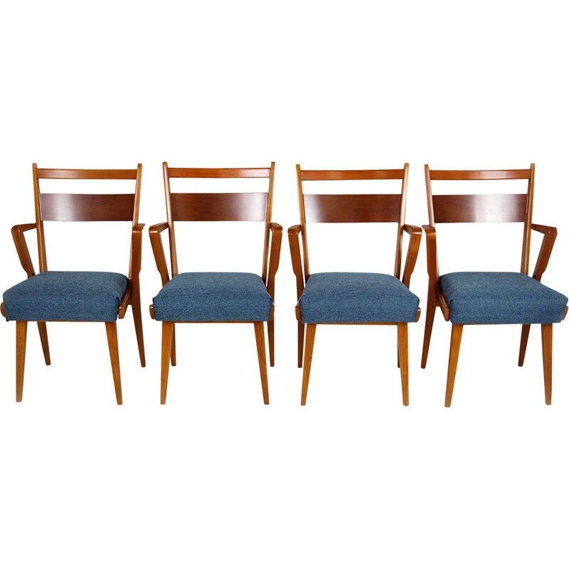 Vintage set of 4 Dining Chairs from Jitona Sobeslav, 1950s