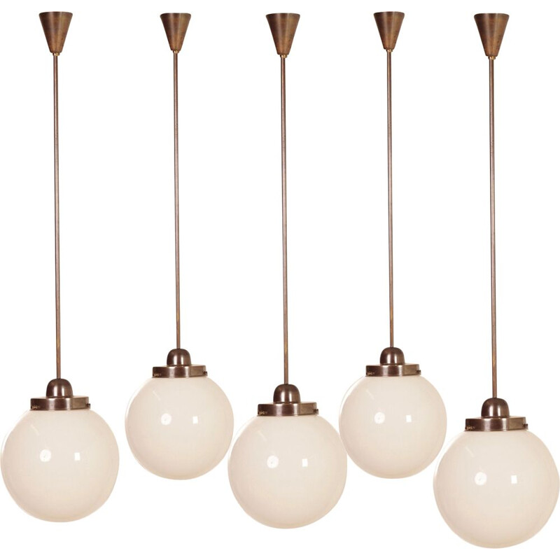 Vintage Giso pendant light by W.H. Gispen for Gispen, 1930s