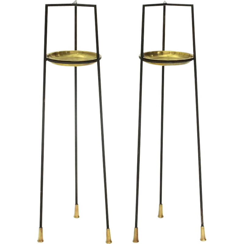 Vintage pair of italian side tables by Vittorio Morasso for Mopa, 1950s