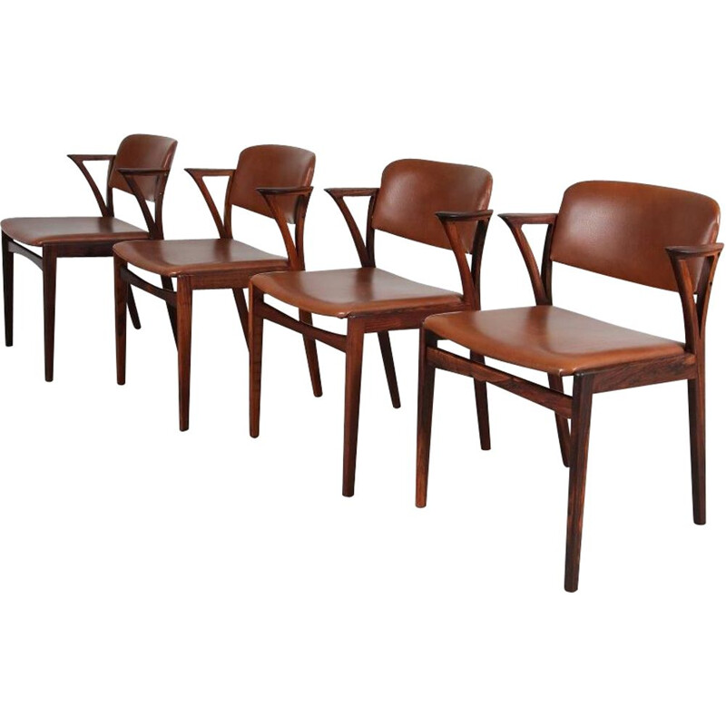 Set of 4 vintage dining chairs in rosewood by Bovenkamp, 1950