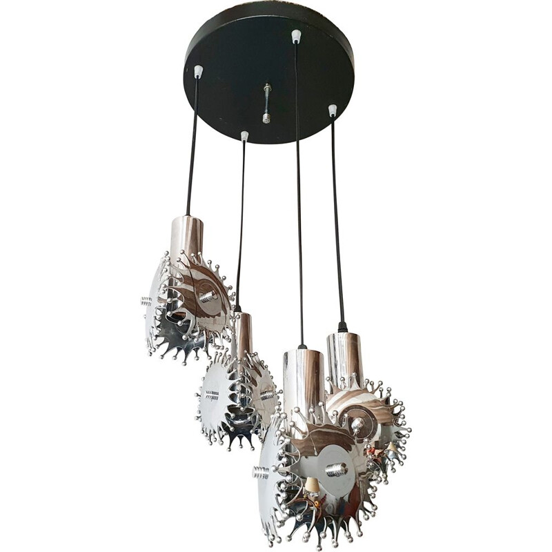 Vintage waterfall pendant light, 1970s