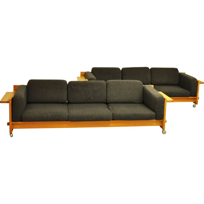 Set of 2 vintage sofas by Yngve Ekstrom for Swedese, 1968s