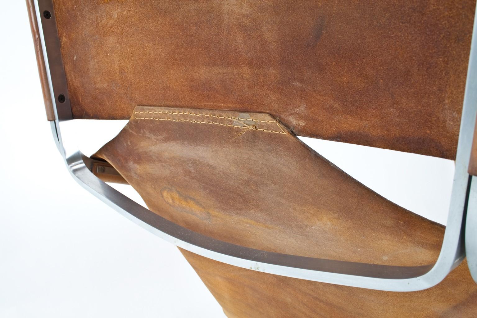 Artifort F444 Lounge Chair In Leather, Pierre PAULIN