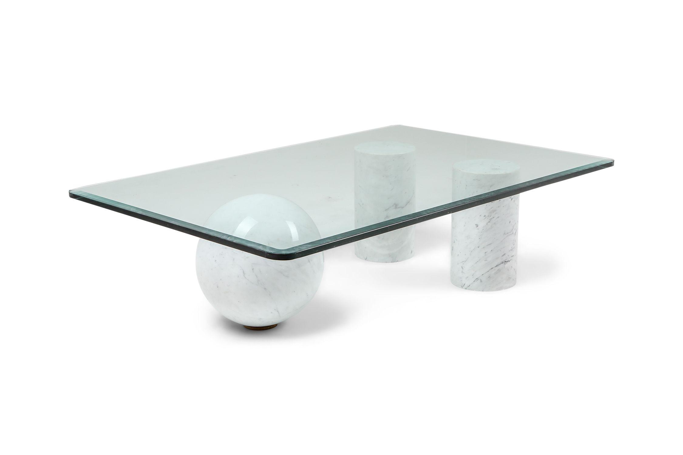 Vintage Italian White Marble Coffee Table By Massimo Vignelli 1970s Design Market