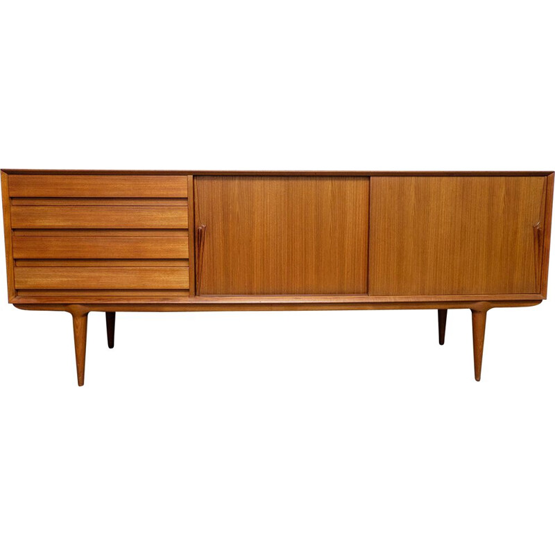 Vintage modèle 18 teak sideboard by Gunni Omann for Omann Jun, 1960s