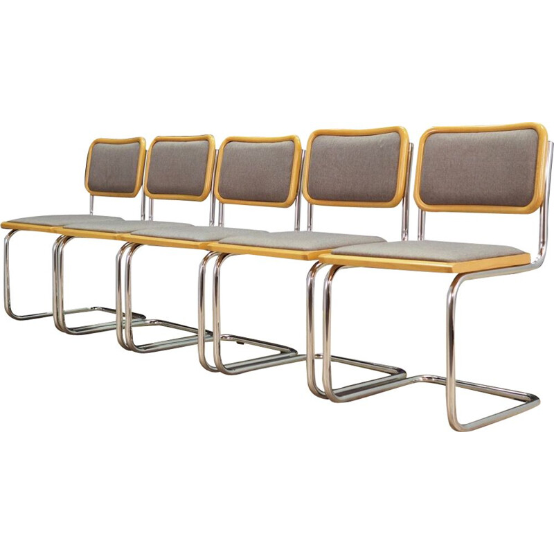 Set of 5 vintage chairs, 1980
