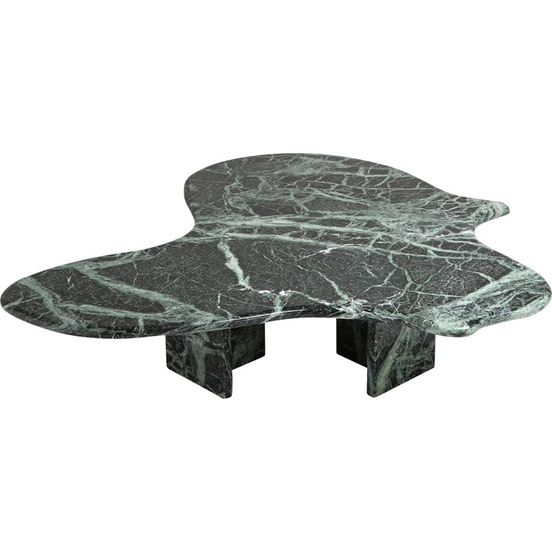 Vintage marble coffee table in the style of Noguchi, 1970