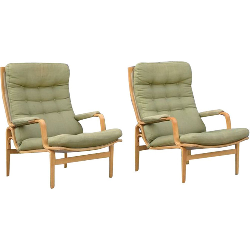 Set of 2 vintage Ingrid armchairs by Bruno Mathsson for Dux, 1960s