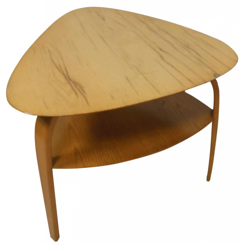 Coffee Table Bow Wood Steiner 1960s