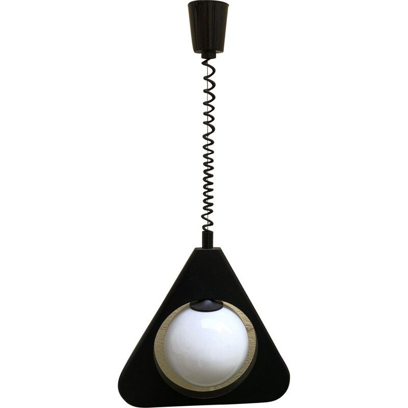 "Vintage ""rolly"" adjustable pendant light, Italy, 1980s"
