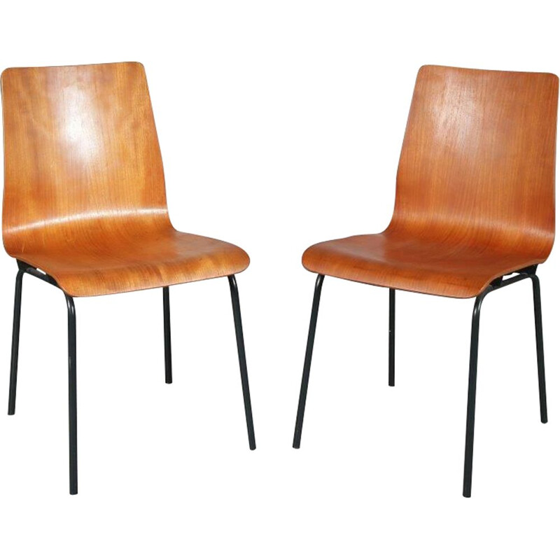 Vintage Euroika chairs, Friso KRAMER, 1950s