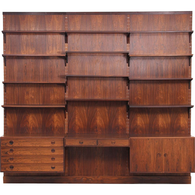 Vintage rosewood wall system, 1970s