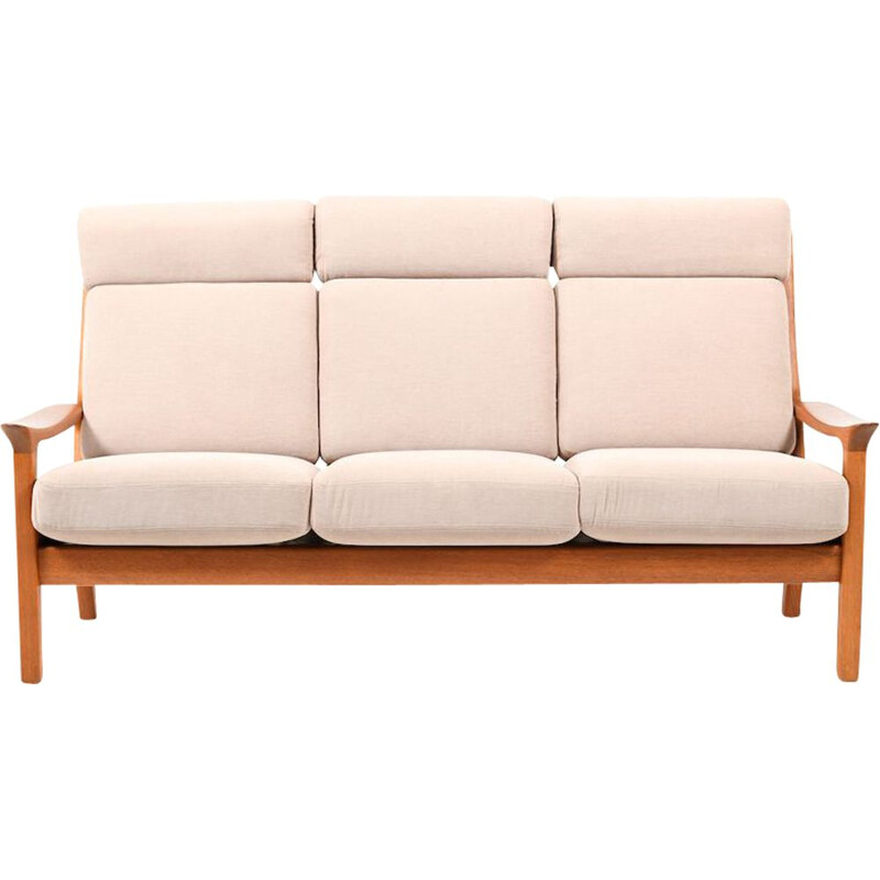Danish Highback 3-Seater Sofa by Jens-Juul Christensen