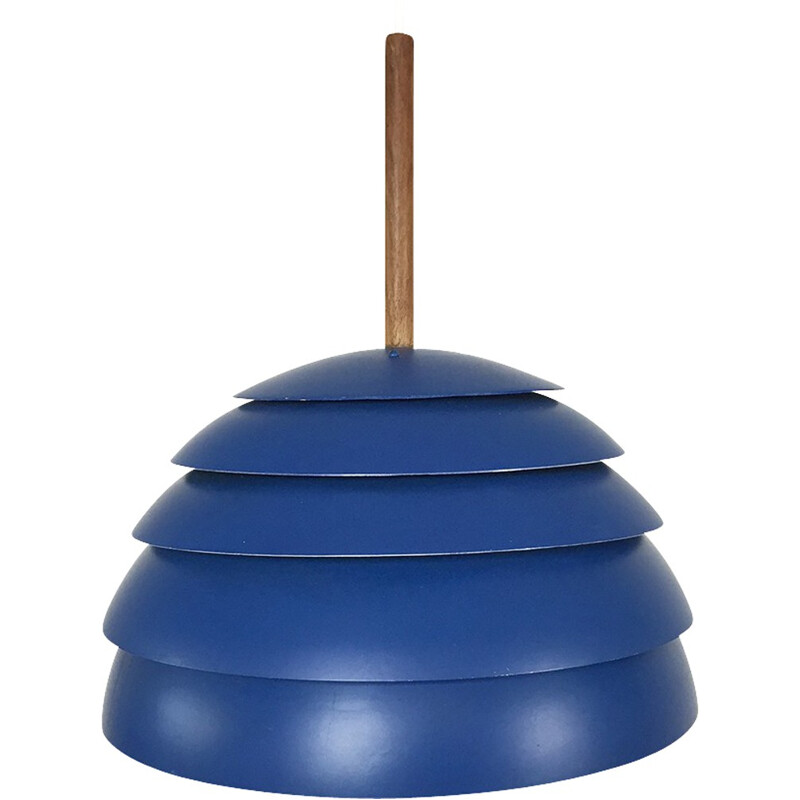 Hanging lamp in blue metal, Hans Agne JAKOBSSON - 1960s