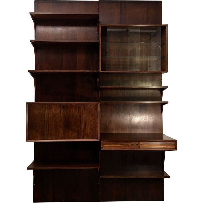 Royal System rosewood modular library by Poul Cadovius, Denmark 1960