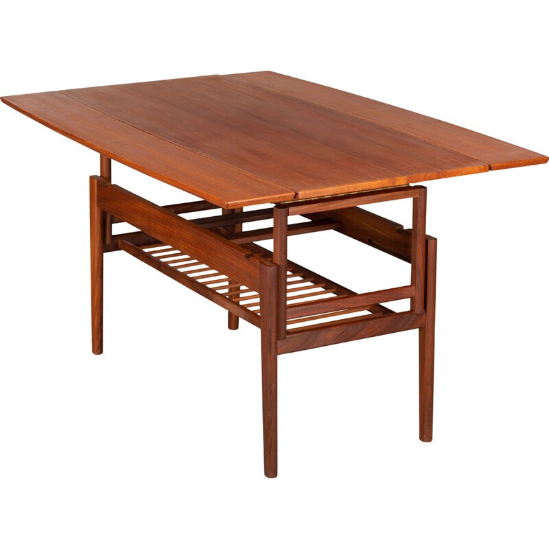 "Vintage ""Elevator"" teak table by Kai Kristiansen for Vildbjerg Møbelfabrik, 1960s"