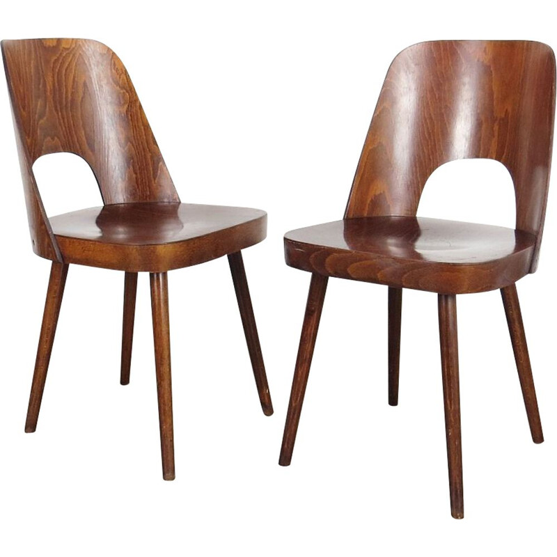Set of 2 dining chairs by Oswald Haerdtl, 1960s