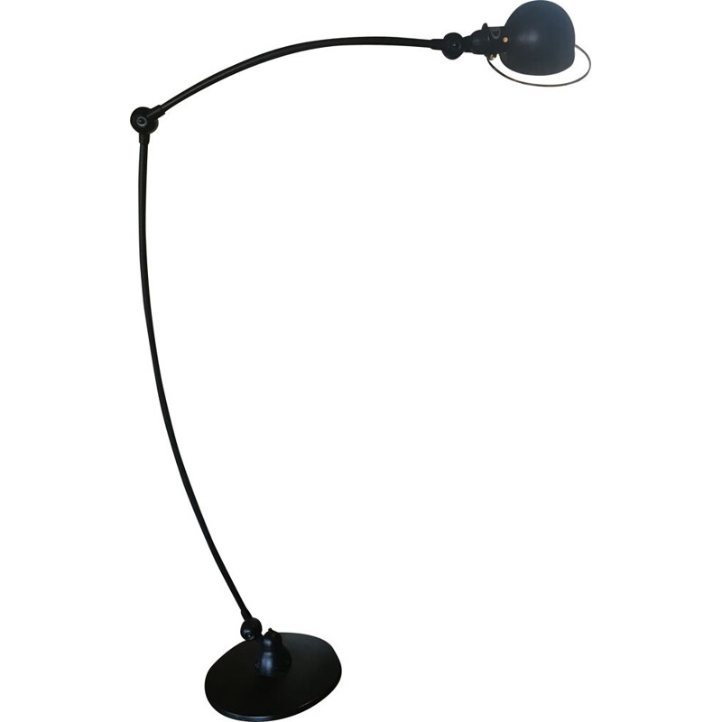 Vintage industrial floor lamp by Jean-Louis Domecq for Jieldé, 1980s