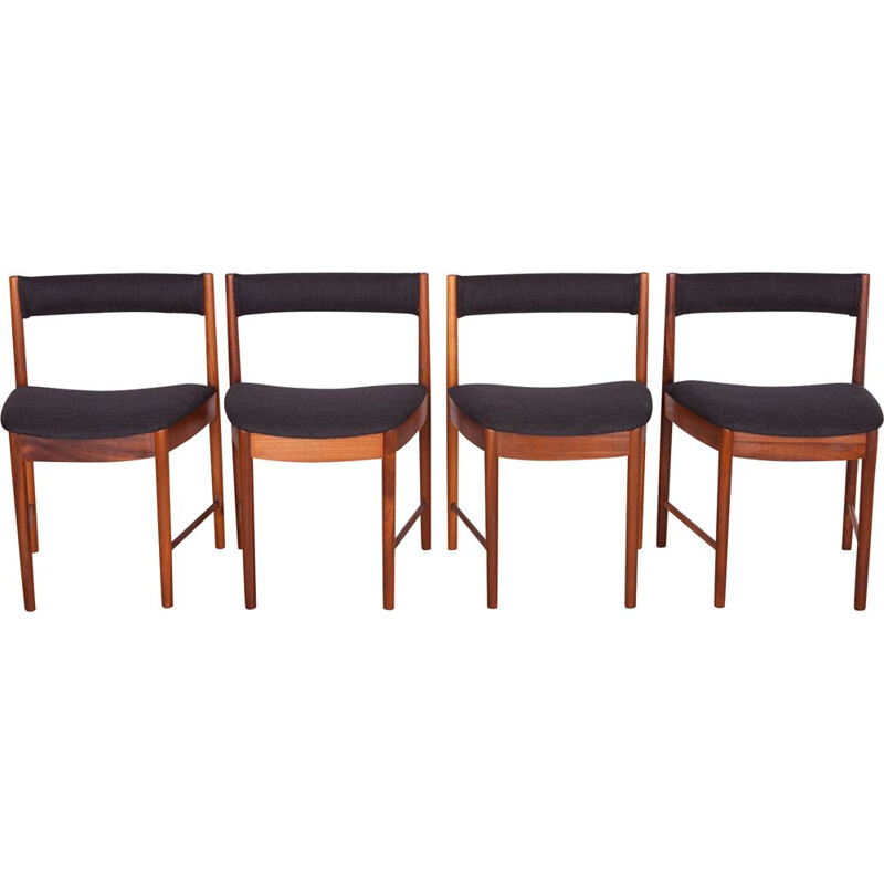 Set of 4 vintage Teak Dining Chairs Model 4103 by McIntosh, 1960s