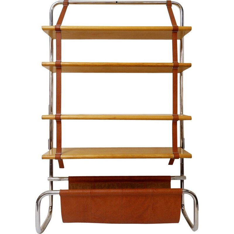 Vintage Jumbo Bookcase by Luigi Massoni for Poltrona Frau In Birch, 1971