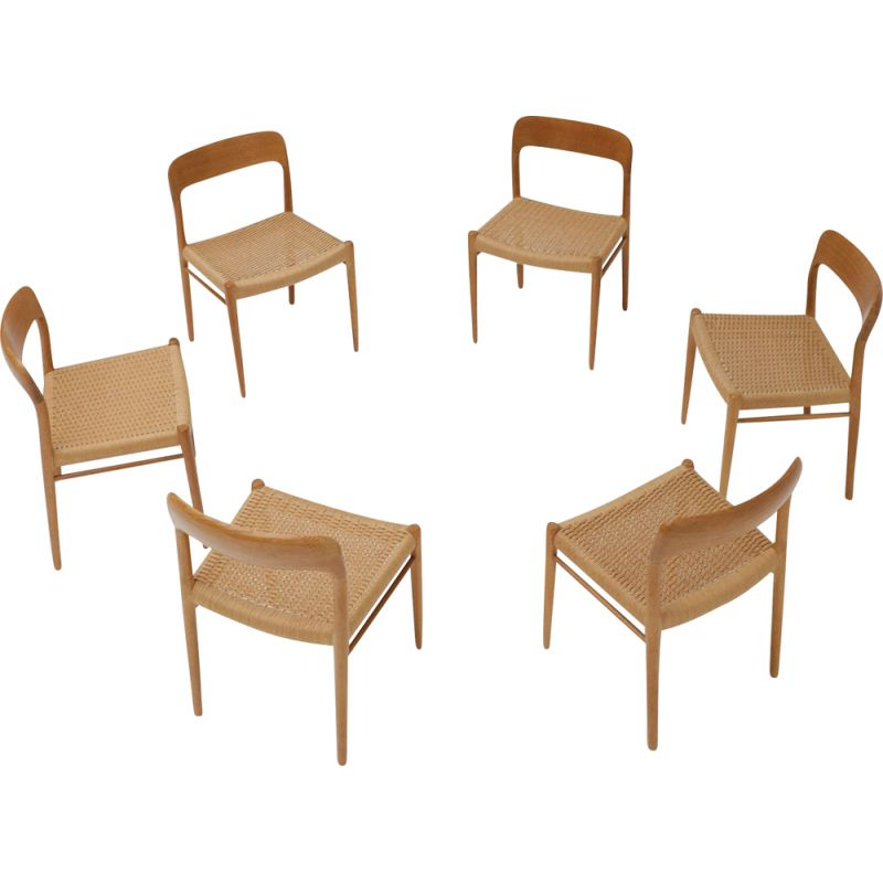 Set of 6 vintage dining chairs by Niels Otto Møller for JL Møllers Møbelfabrik, 1970s