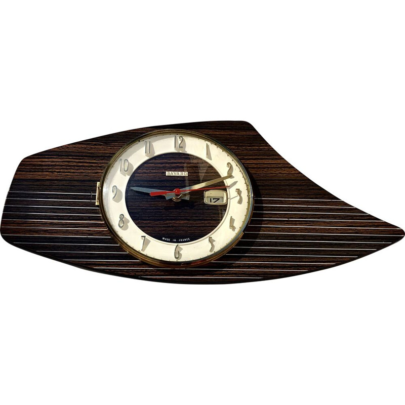 Vintage wooden wall clock, 1960s