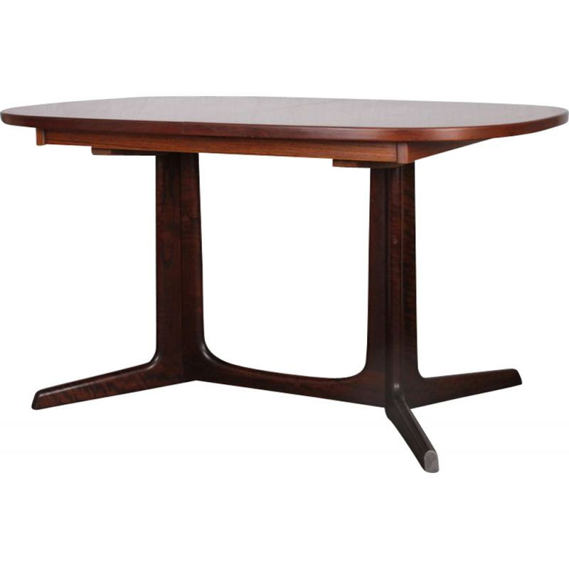 Vintage rosewood dining table by Niels O. Moller, 1960s