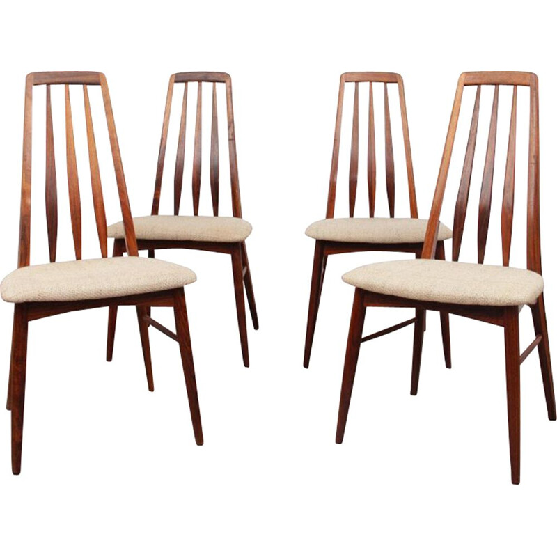Suite of 4 vintage rosewood chairs by Niels Koefoed for Koefoeds Mobelfabrik, 1960s