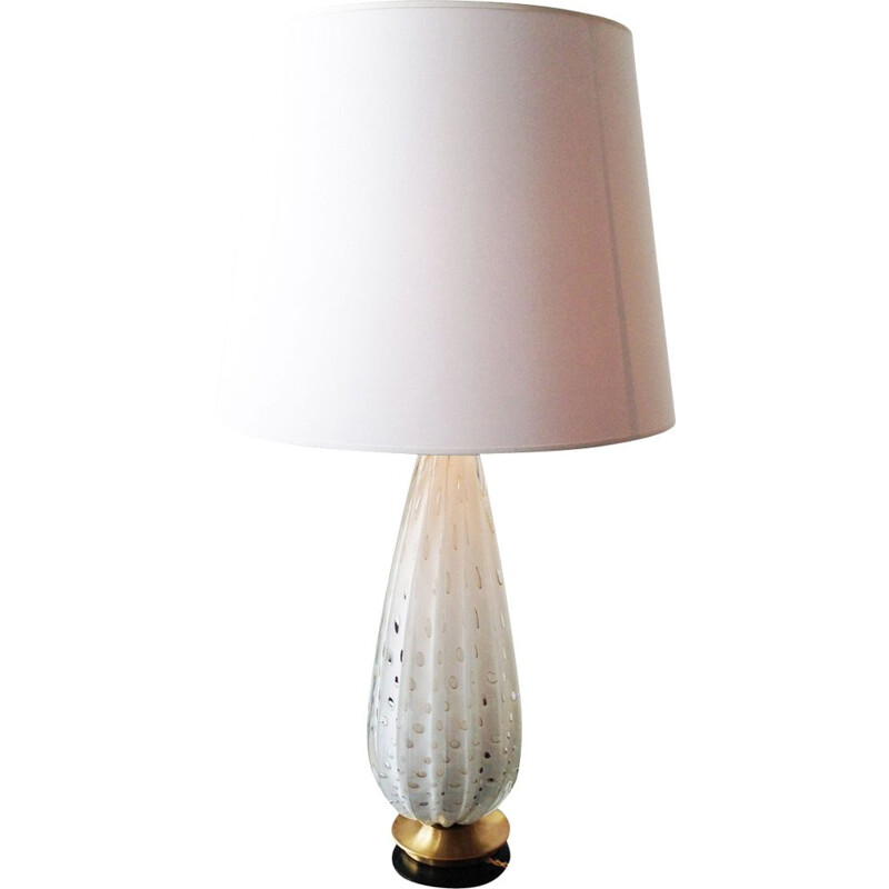 Vintage Murano XXL lampe in bubbled blown glass, Italy, 1960