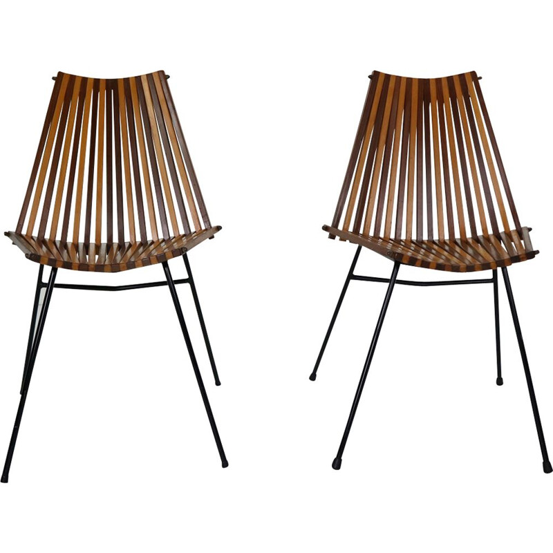Set of 2 chairs by Dirk Van Sliedregt for Rohe Noordwolde, 1960s