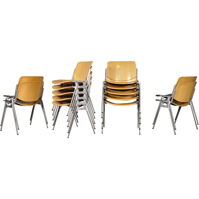 Vintage Stacking Dining Chairs Model DSC-106 by Giancarlo Piretti for Anonima Castelli, 1970s