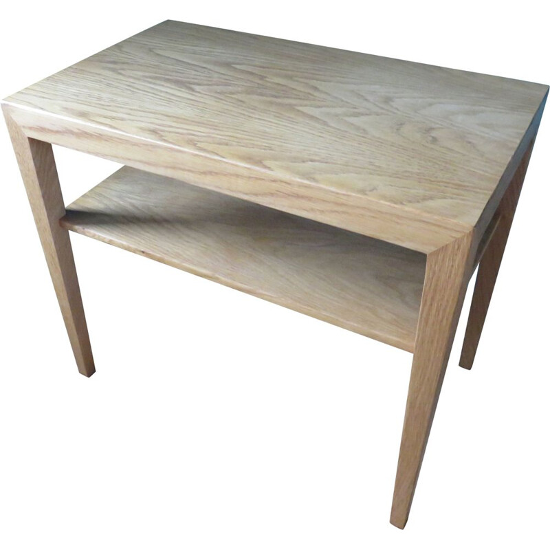 Vintage oak coffee table by Haslev Denmark 1960